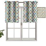 Hiiiman Cortinas opacas con aislamiento térmico para decoración del hogar, diseño exótico tradicional, juego de 1, 91,4 x 45,7 cm para ventana del sótano