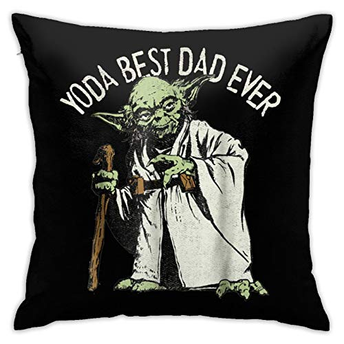 Loretta Mcdaniel Officially yoda Best dad Ever Hypoallergenic Throw Pillow Insert Sham Cushion Cover Square Pillowcase18 inches