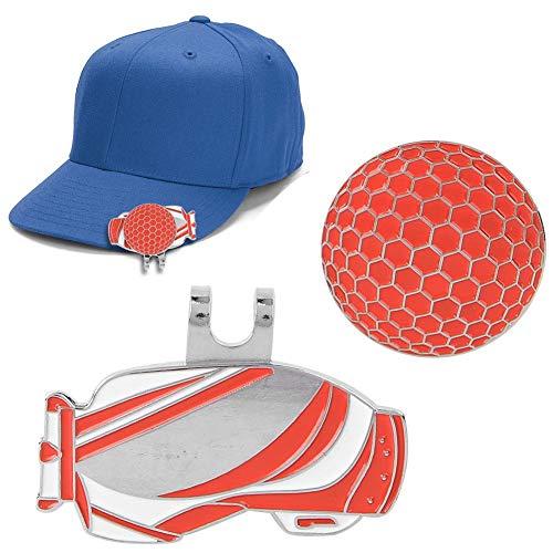 Magnetische golfhoedklem, draagbare felle kleuren golfbalmarker met magnetische balmarker Golf oefenaccessoire