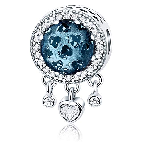 MUERDOU Birthstone Charm Fit Pandora Charms Bracelets and Necklaces Birthday Gifts for Woman Girl