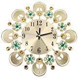 Reloj de pared de metal moderno, reloj de pared silencioso 3D, reloj sin tictac para cafetería, restaurante, sala de estudio o decoración de la pared del dormitorio, fácil de instalar o desmontar