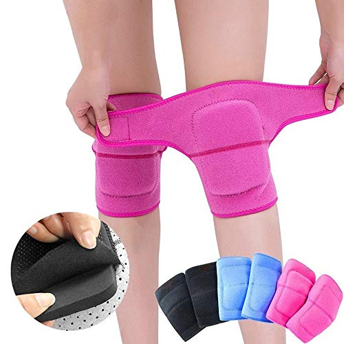 MUMUWU 1pcs Thicken Sponge Sports Knee Pad om te dansen rolschaats Vrouwen Kneepad Brace Ondersteuning Kniebescherming Knieschijfproblemen Guard (Color : 1 pcs rose red)