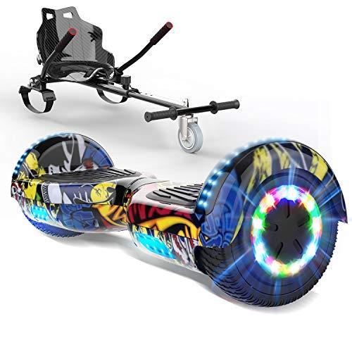 HITWAY Hoverboard 6,9 Pulgadas con Patinete eléctrico Hoverkart, Patinete eléctrico de Equilibrio automático para niños y Adolescentes
