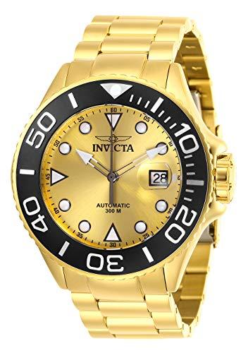 Invicta 28760 Pro Diver Reloj para Hombre acero inoxidable Automático Esfera oro