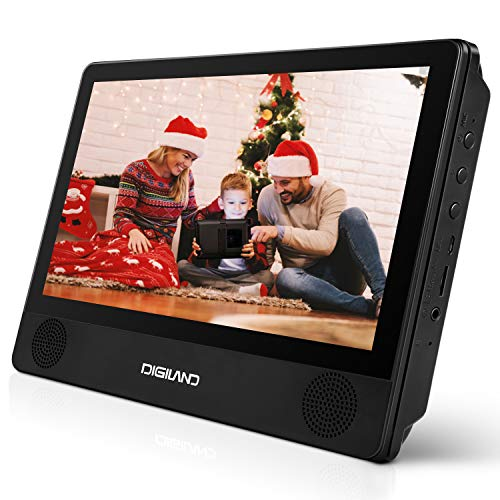 DigiLand Portable DVD Player & Android 9.0 Wi-Fi Tablet Combo 9-Inch Touchscreen, Quad-Core 1.3GHz, 16GB Storage, With Headrest Strap, AC Charger Adapter and Car Charger, For Car and Home Use (DL9003)