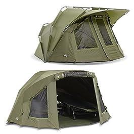 Lucx® Lion Tente de pêche + couverture Bivvy + skin d'hiver pour 1 à 2 personnes avec surwrap Carp Dome Tent + Skin pour 1 à 2 personnes