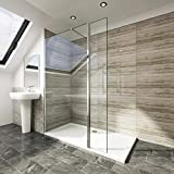 Elegant 800mm <span class='highlight'>Walk</span> <span class='highlight'>in</span> <span class='highlight'>Shower</span> Screen 6mm Tougheded Safety Wet Room with 300mm Flipper Panel,Alum<span class='highlight'>in</span>um Support bar <span class='highlight'>In</span>cluded