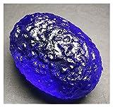 YSJJDRT Cristallo Naturale Grezzo 40-50g 1 pz Blu Moldavite Meteorite Ceco Impact Glass in Pietra Ruvida in Pietra di Cristallo di Pietra di Cristallo