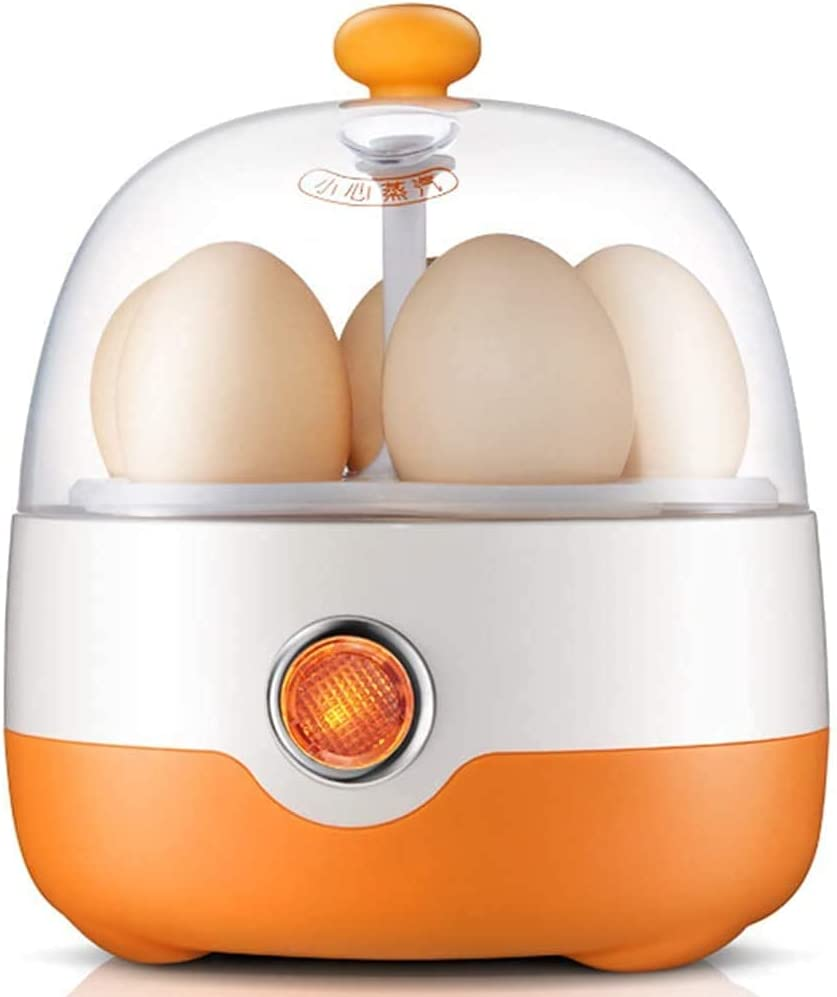 Raxinbang egg boiler Egg Steamer, Multifunctional Electric 5 Eggs Boiler Cooker Stainless Teel Automatic Power-Off Mini Steamer Poacher Kitchen Cooking Tool (Color : Parent)