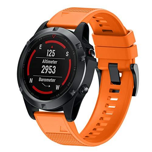 ANBEST Compatible with Fenix 6XFenix 5XFenix 6X ProFenix 5X Plus with Quick Release Function Silicone Straps 26 mm Sports Watch Strap for Garmin Fenix 3Fenix 3HR GPS Smart Watch Orange
