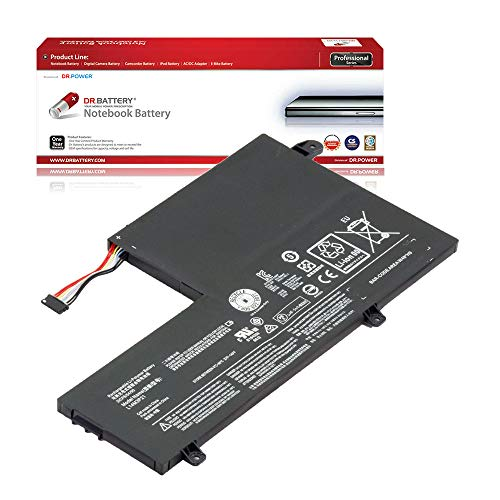DR. BATTERY Laptop Battery for Lenovo L14L3P21 L14M3P21 Yoga 500-14IBD IdeaPad Flex 3-1470 Flex 3-1480 Flex 3-1570 Flex 3-1580 [11.1V/4050mAh/45Wh]