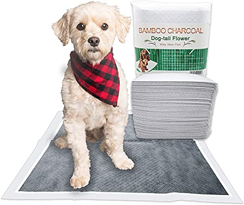 Dog Pads for Training, Disposable, Leak-Proof, Bamboo Charcoal, Odor Remove, Double Thickness, Supper Absorbent (23.5