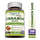 Pure Naturals?Cinnamon Bark Dietary Supplement * 500?mg Cinnamon?Bark Extract?Per?Capsule?*?200?Capsules per bottle *?Anti-Bacterial & Anti-Microbial Properties