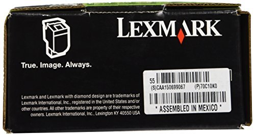 LEXMARK International 70C10K0 70C10K0 Toner (LEX-701K) 1000 Page-Yield, Black Photo #7