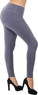 LARACE Women Buttery Soft Yoga Waist Solid Leggings