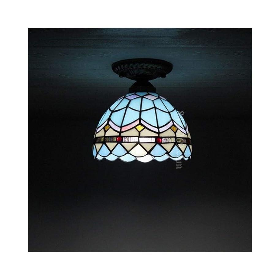 神経障害バンドル一晩手作りの天井灯、家の装飾のためのガラスのステンドグラスの天井灯地中海風の廊下