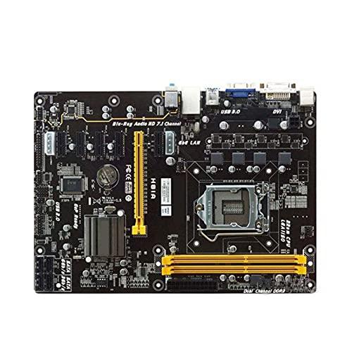 SYFANG Fit for BIOSTAR Placa Base de Escritorio de minería H81A 1150 Intel H81 Mine Board 1150 DDR3 16GB DDR3 H81 Pc Placa Base de minería