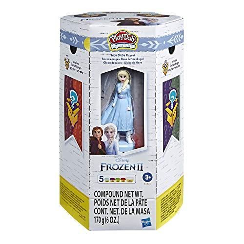 Play-Doh Mysteries Disney Die Eiskönigin 2 Elsas Schneekugel Spielzeug mit 5 Play-Doh Farben