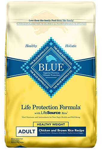 Blue Buffalo Life Protection Formula Natural Adult Healthy Weight Dry Dog Food, Chicken and Brown Rice 30-lb