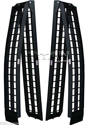9' Black Aluminum Folding Dual Off-Road ATV Loading Ramps