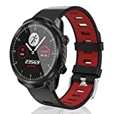 CatShin Smartwatch Uomo Donna Orologio Fitness Contapassi Calorie Cardiofrequenzimetro da Polso, Impermeabile IP67 Smart Watch Touchscreen Activity Tracker per Android iOS (Rosso)