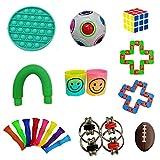 Not application 19 unids Sensory Fidget Juguetes Descompresión Juguete Kit de Mano de Dedo Set Adecuado para Niños y Adultos