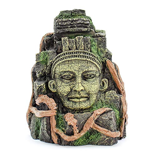 """Penn-Plax Deco-Replicas Cambodian Rock Face Aquarium Ornament – Safe for Freshwater and Saltwater Tanks – 5.5"""" Height"""