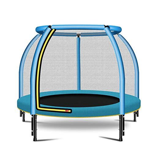 GWLTV Mini Trampoline - Vouwontwerp, 48-inch diameter met veiligheidsbehuizing, Netto voor sporttraining, Kinderfeest (laden 400 kg), Blauw