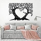 HGFDHG Rama calcomanías de Pared Amor romántico Dormitorio Sala de Estar jardín de Infantes decoración de Interiores Arte Vinilo Adhesivo Mural