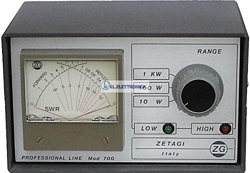 Zetagi mod.700 Rosmetro Wattmetro 2-30 mhz e 120-500 mhz 33012