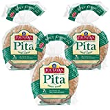 PREMIUM QUALITY - Our Sweet Onion Pita Bread is made from top quality, wholesome ingredients. True to tradition, each pita is hearth baked to a perfect golden brown. Delicious onion taste! NUTRITIONAL FACTS - Cholesterol Free and Trans Fat Free. Cert...