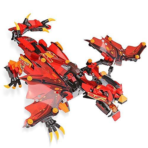 Modbrix 2,4 Ghz Ferngesteuerter Ninja Mech Drache, Mutter Aller Drachen, Konstruktionsspielzeug, 485 Klemmbausteine