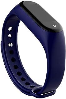 akaddy M4 Smart Band Fitness Tracker Monitor de presión arterial de frecuencia cardíaca (azul oscuro)