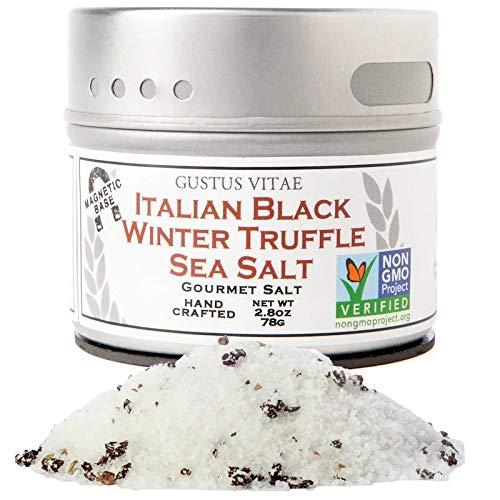 トリュフ塩 、高級グルメソルト イタリアンブラック トリュフ シーソルト、2.8オンス (76 g) [並行輸入品]