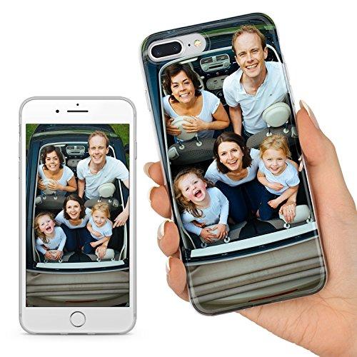 TULLUN Personalisierte Persönliche Ihr Eigenes Bild Foto Brauch Soft Gel Schutzhülle Handy Hülle für iPhone Modelle - Ihr Eigenes Design - für iPhone 7 Plus / 8 Plus