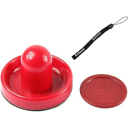 672A 8Pcs 63mm Red Air Hockey Children Table Mini Felt Pusher Mallet Puck Goalie