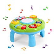 Musical Learning Table Baby Toys - Early Educational Development Activity Center Multiple Modes Game 6 Months Up for 1 2 3 Years Old Boys Girls kids infant Music Lighting Animails Sound Gifts