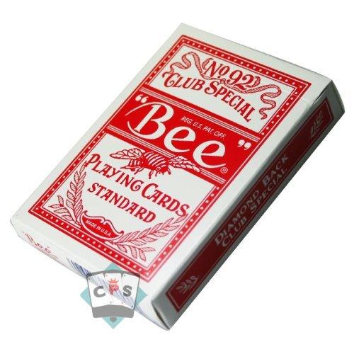Cartes Bee - Cartes Poker - Cartes Bee rouge