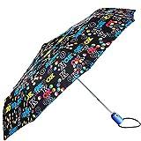 BOLERO Paraguas de lluvia Mini plegable cortavientos de alta calidad - Apertura y cierre automático - Tejido Pongee 190T - Portátil y de bolsillo