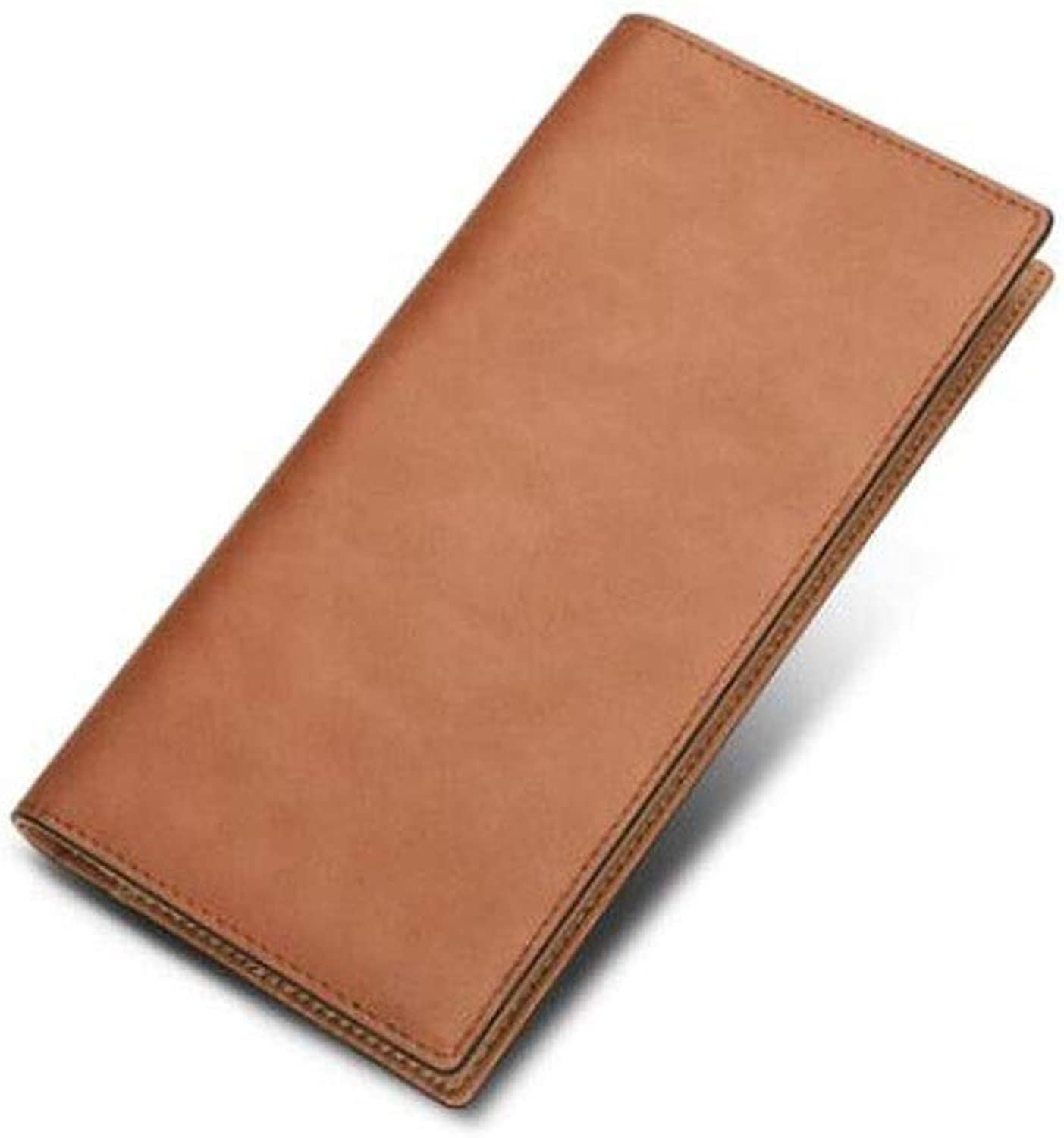 Wallet, Suitable for Men's Long, MultiCard Large Capacity Casual Fashion MultiFunctional Youth Business Leather Wallet, color, Black, Size (19  2  9.5) cm (color   Yellow Brown)