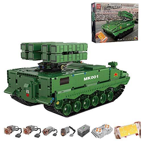 RcBrick Technik Panzer, 1689 Teile Technik Tank Technic Ferngesteuert Panzer mit 4 Motor und Fernbedienung Bauset Kompatibel mit Lego Technik