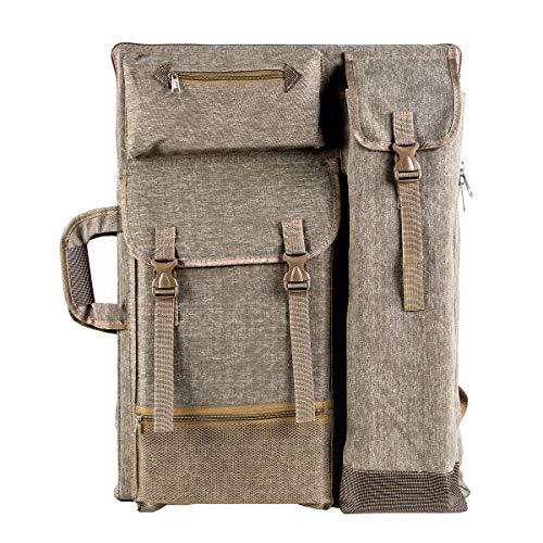 """Transon Art Portfolio Case Artist Backpack Canvas Bag Large 26"""" x 19.5"""" Khaki Color"""