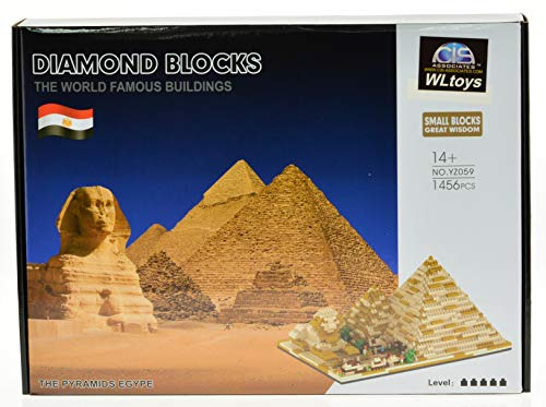 ICS Giza Pyramid Micro Block Set with 1456 Bricks, CIS-YZ059