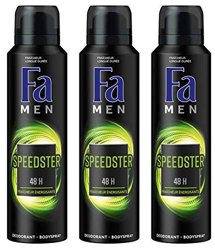 FA Men deodorant Night Passion, sensuele frisse spray, 150 ml - 3 stuks