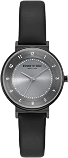 Kenneth Cole Womens Quartz Watch, Analog Display and Leather Strap KC50075001
