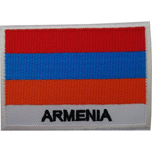 Aufnäher mit Armenien-Flagge, zum Aufbügeln auf Jacke, Tasche, bestickt, bestickt