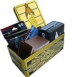 MEGA LOTTO Yu-Gi-Oh! 5 Carte Segrete + 10 Ultra Rare + 25 Super Rare + 25 Rare + 115 Comuni CASUALI MISTE ITALIANO + 1 Tin Portacarte Dorato + Sleeves + Deck Box + Segnapunti Andycards