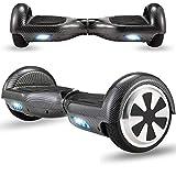 Magic Vida Skateboard Électrique Bluetooth 6.5 Pouces Rouge Puissance 700W avec LED Gyropode Musique Auto-Équilibrage pour Enfants et Adultes Gyropode 2 Roues