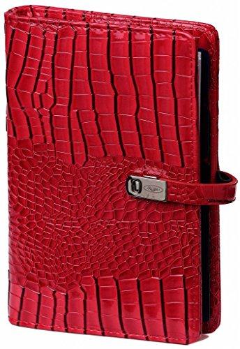 Kalpa Personal Organizer Planner Faux Leather con rellenos 2018 y 2019 en el interior - rojo