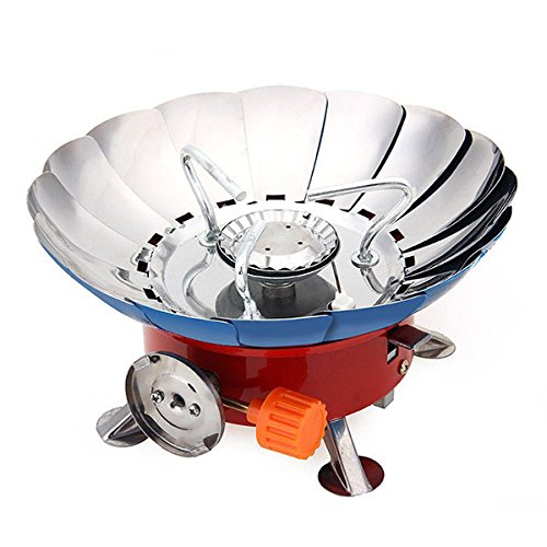 Bazaar Portable Lotus Form Winddichte Camping Gas Herd Mini Outdoor BBQ Grill Herd Rucksack Picknick Brenner